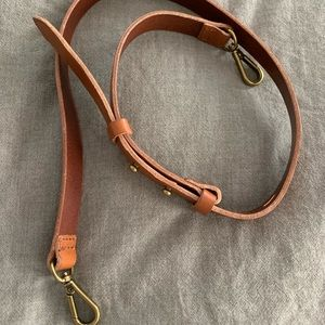 Madewell shoulder strap leather